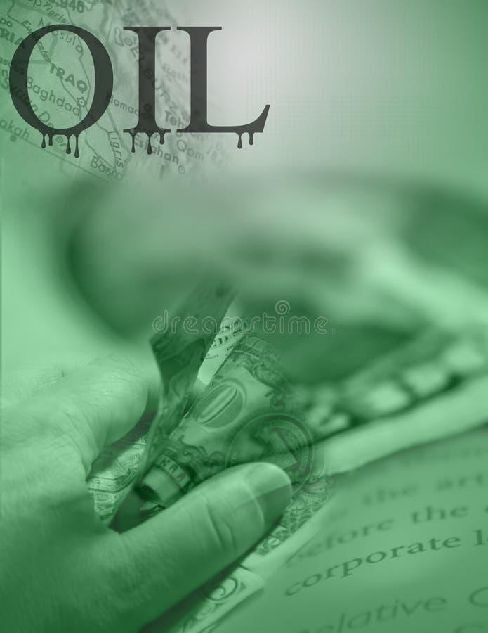 Schmieröl-Geschäft und der Irak stock abbildung