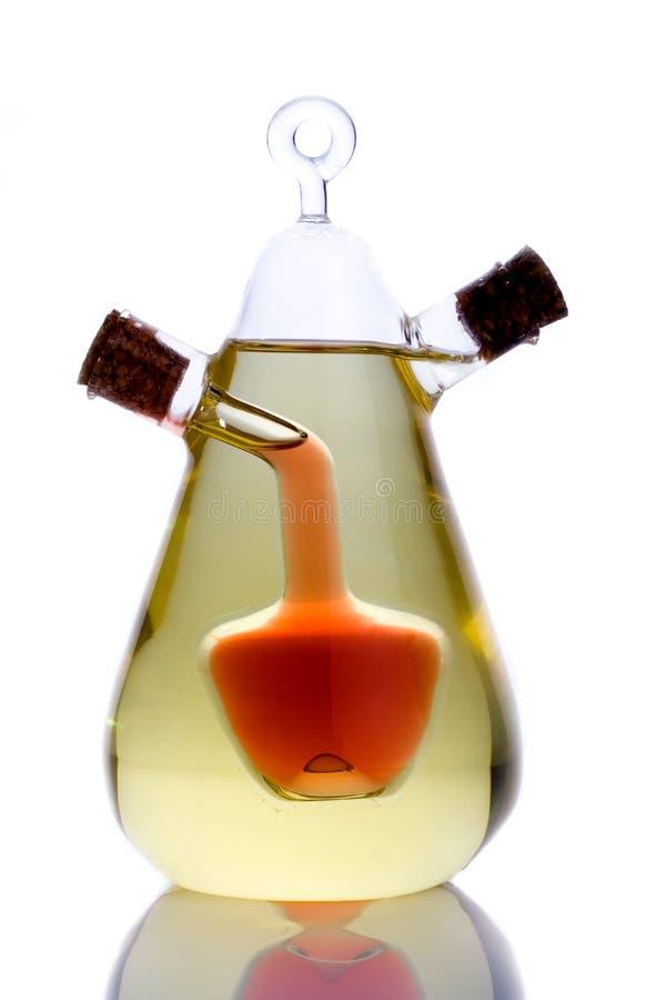 Schmieröl und Essig Cruet stockbild