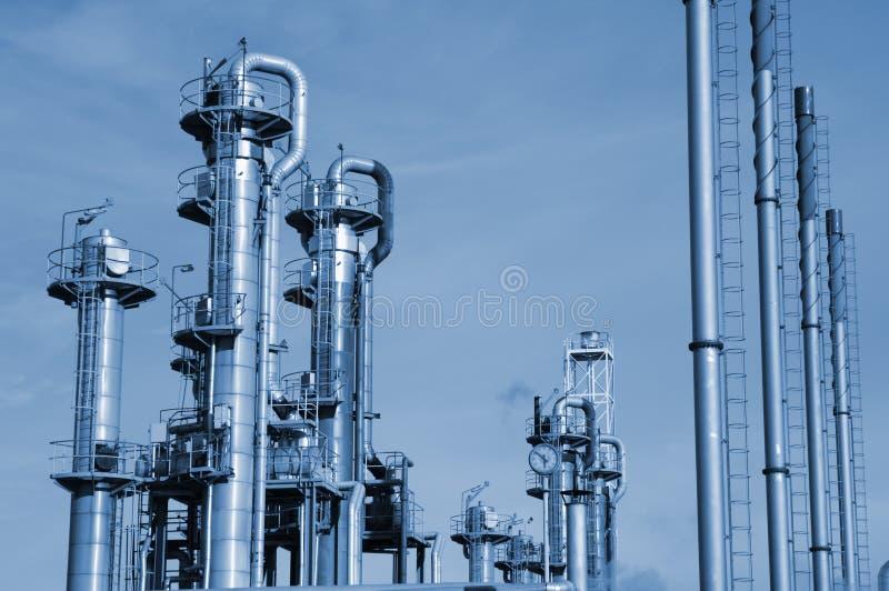 Schmieröl- und Gasraffinerienahaufnahme lizenzfreie stockbilder