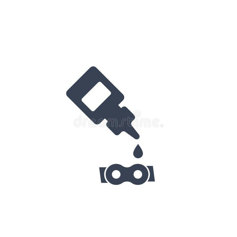 Schmiermittel, Öl für Fahrradkettenikone stock abbildung