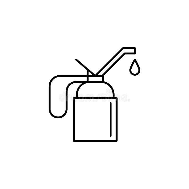 Schmiermittel, Ölentwurfsikone Kann für Netz, Logo, mobiler App, UI, UX verwendet werden vektor abbildung