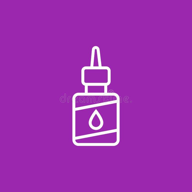 Schmiermittel, Schmieröl für Fahrradikone stock abbildung