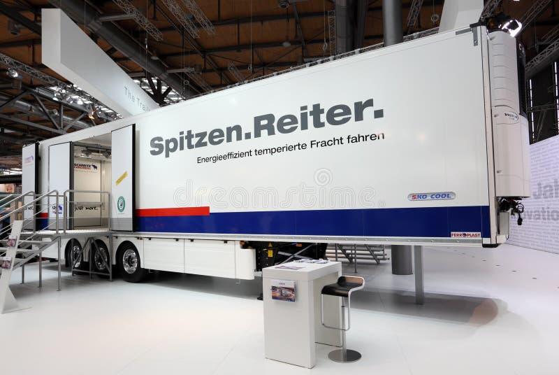 Download Schmitz Cargobull trailer editorial photography. Image of show - 26793542