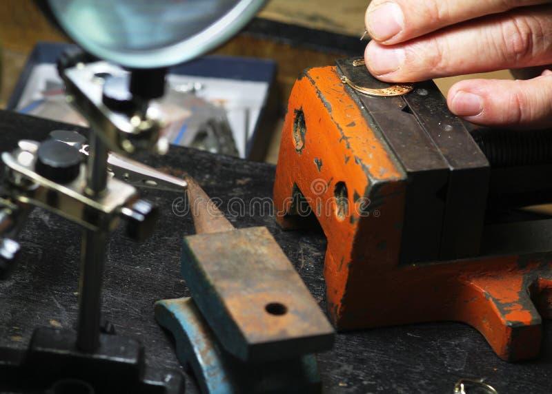 Schmuckhandwerkswerkzeuge lizenzfreies stockfoto
