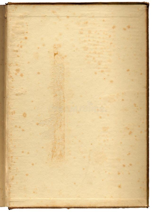 Schmuddeliges, foxed Buch endpaper stockbilder