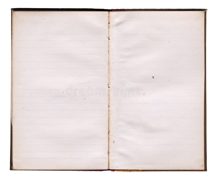 schmuddeliges Notizbuch der Dreißigerjahre stockfotos