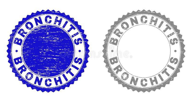 Schmutz BRONCHITIS maserte Stempelsiegel lizenzfreie abbildung