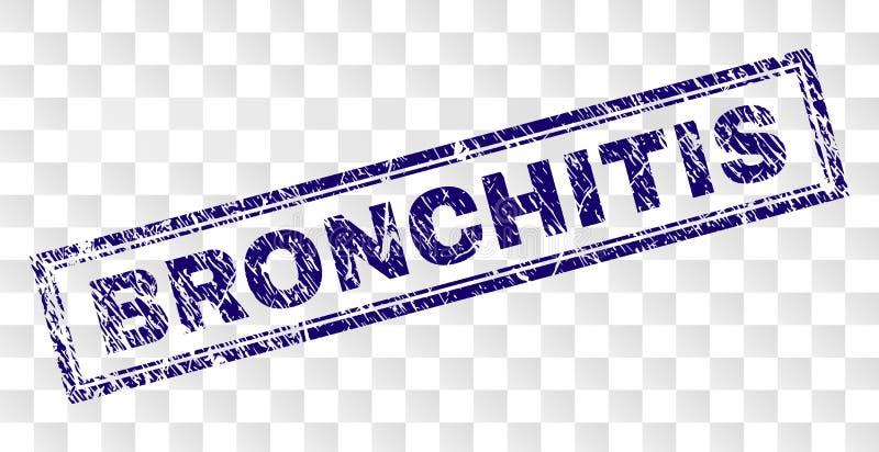 Schmutz BRONCHITIS Rechteck-Stempel stock abbildung