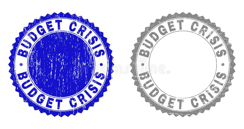 Schmutz BUDGET-KRISE maserte Stempelsiegel lizenzfreie abbildung