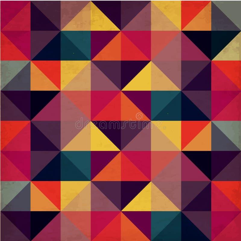 Schmutz-buntes nahtloses Muster mit Dreiecken lizenzfreie abbildung