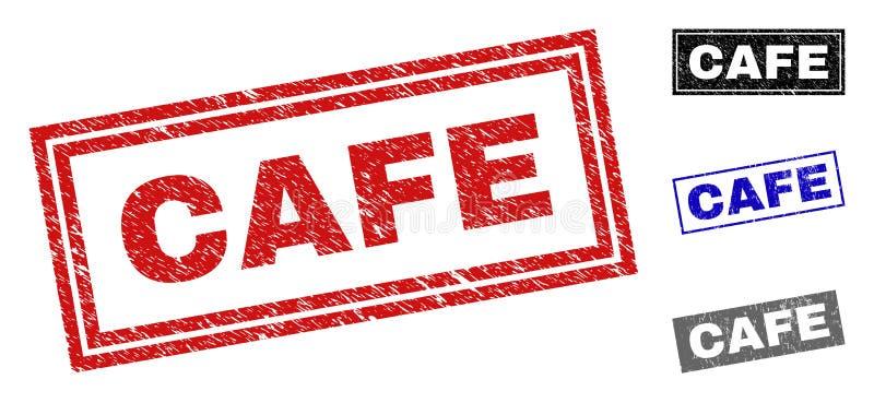 Schmutz CAFÉ strukturierte Rechteck-Wasserzeichen lizenzfreie abbildung