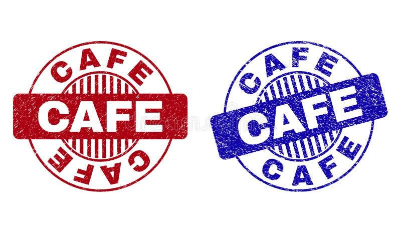 Schmutz CAFÉ gemasert ringsum Wasserzeichen stock abbildung