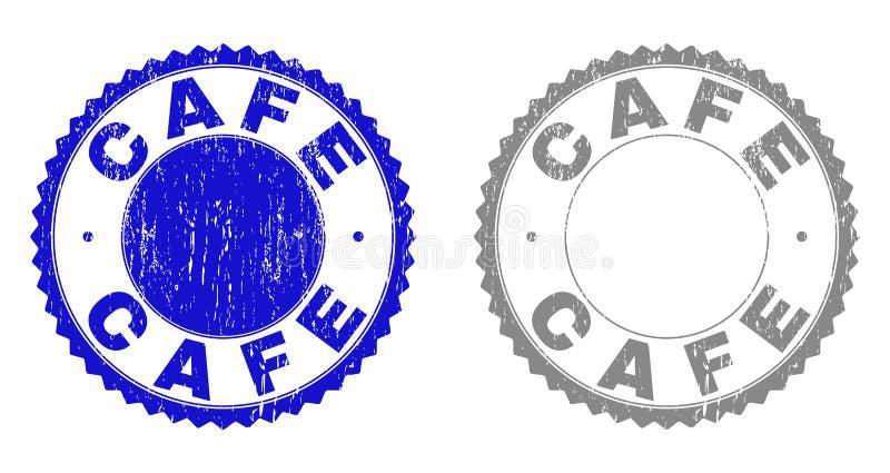 Schmutz CAFÉ maserte Wasserzeichen stock abbildung