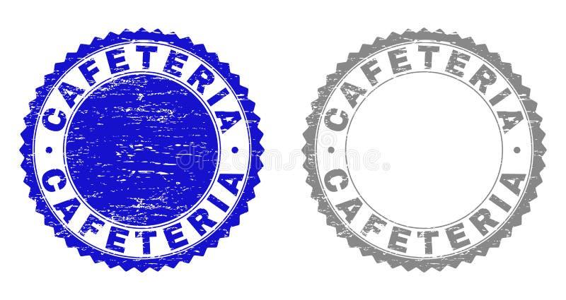 Schmutz CAFETERIA maserte Stempel lizenzfreie abbildung