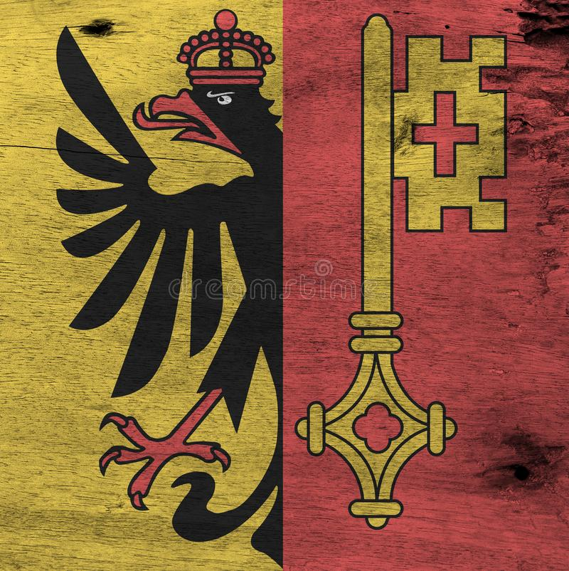 Schmutz-Genf-Flaggenbeschaffenheit, der Bezirk von die Schweiz-Bündnis stockbilder