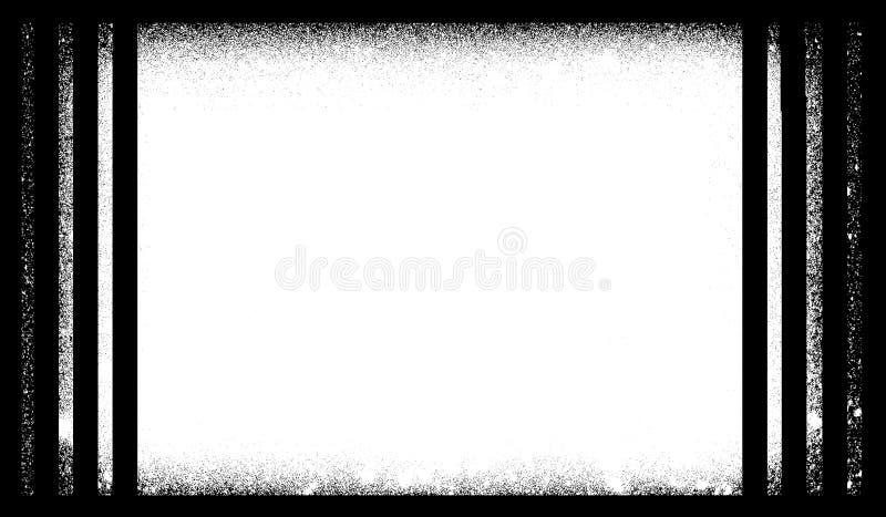 Schmutz-Grenze oder Rahmen Schmutzfotorand stock abbildung