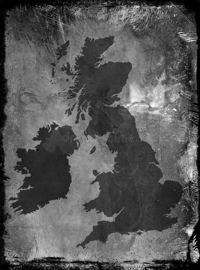 Schmutz Großbritannien-Karte stock abbildung