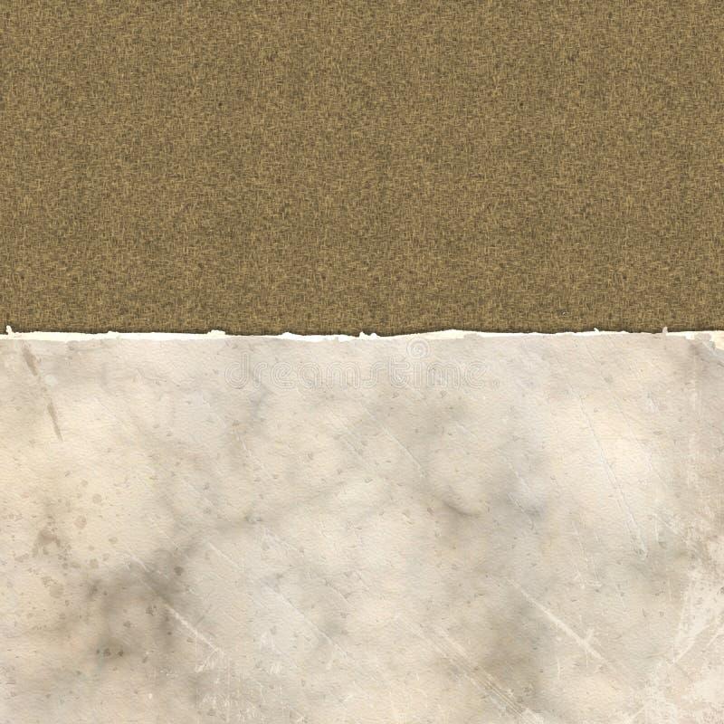 Schmutz heftiges Papier auf einer Leinenstruktur lizenzfreie abbildung