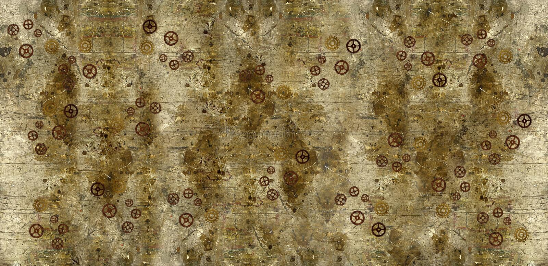 Schmutz-Hintergrund mit Steampunk-Gängen lizenzfreies stockbild
