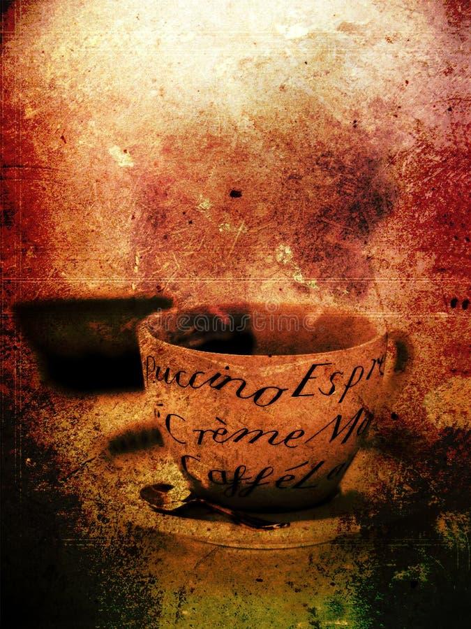 Schmutz-Kaffee-Plakat lizenzfreie stockbilder