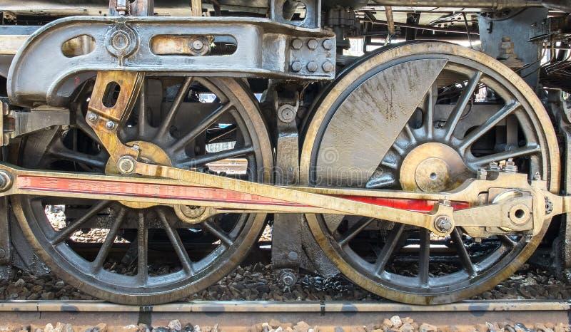 Schmutz-klassische Transport-Dampf-Zug-Räder, Weinlese-Art lizenzfreie stockfotografie
