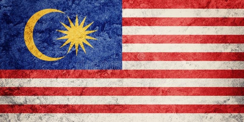 Schmutz-Malaysia-Flagge Malaysia-Flagge mit Schmutzbeschaffenheit stockfotografie