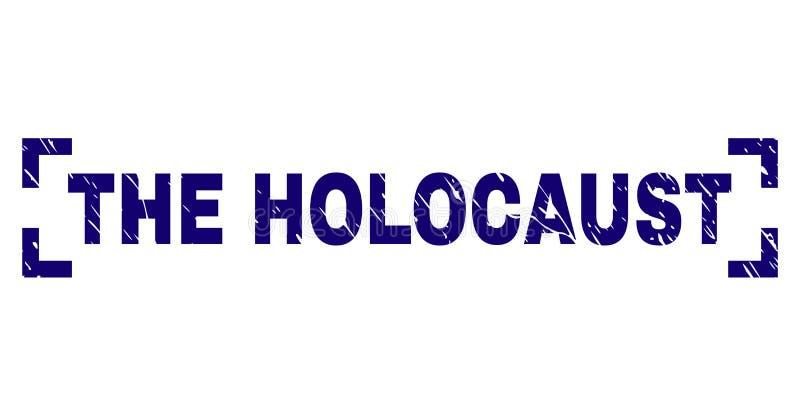 Schmutz maserte das HOLOCAUST Stempelsiegel zwischen Ecken stock abbildung