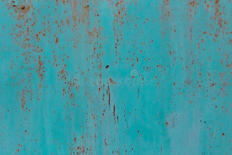 Schmutz-Metallbeschaffenheit des Türkises rostige Spanisches Art colonal lizenzfreie stockbilder