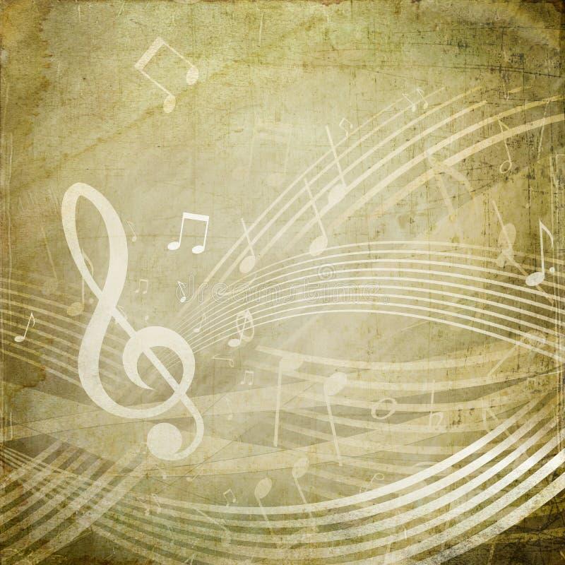 Schmutz-musikalische Anmerkungen stock abbildung