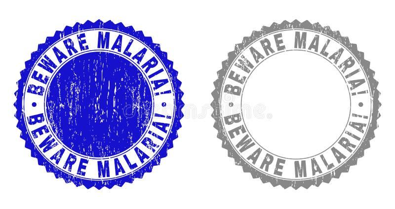 Schmutz PASST MALARIA auf! Strukturierte Wasserzeichen stock abbildung