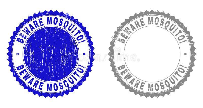 Schmutz PASST MOSKITO auf! Strukturierte Wasserzeichen stock abbildung