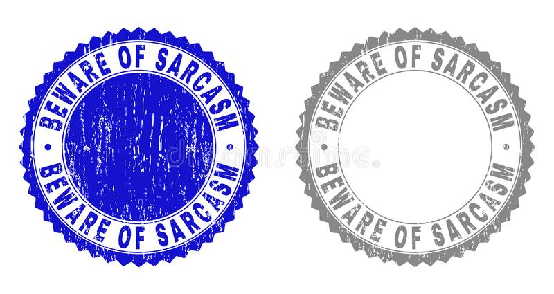 Schmutz PASST vom SARKASMUS verkratzte Stempelsiegel auf vektor abbildung