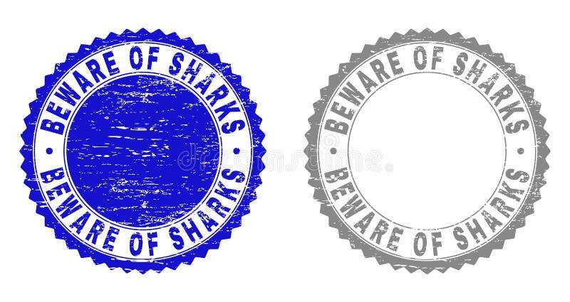 Schmutz PASST von den HAIFISCHEN verkratzte Wasserzeichen auf lizenzfreie abbildung