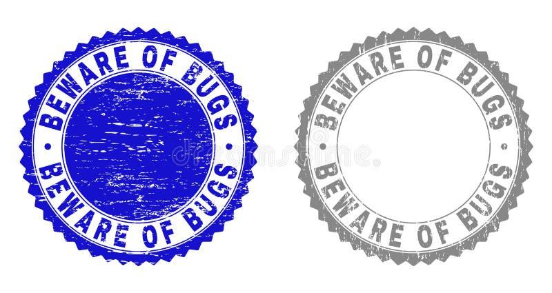 Schmutz PASST von den WANZEN maserte Stempel auf lizenzfreie abbildung