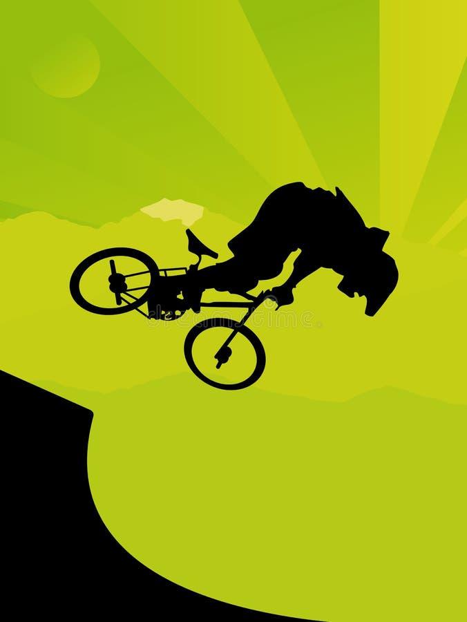Schmutz-Radfahrer lizenzfreie abbildung