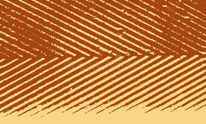Schmutz-Retro- Streifen-Hintergrund stock abbildung