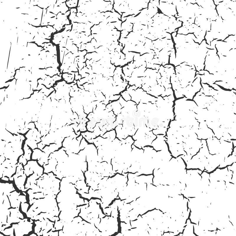 Schmutz-Schwarzweiss-Bedrängnis-Beschaffenheit stock abbildung