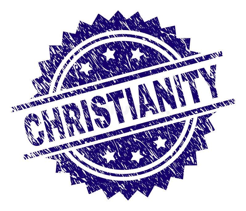 Schmutz strukturiertes CHRISTENTUM Stempelsiegel stock abbildung