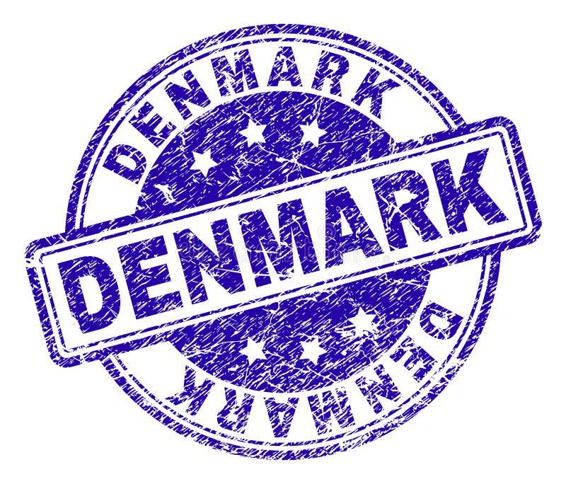 Schmutz strukturiertes DÄNEMARK-Stempelsiegel stock abbildung