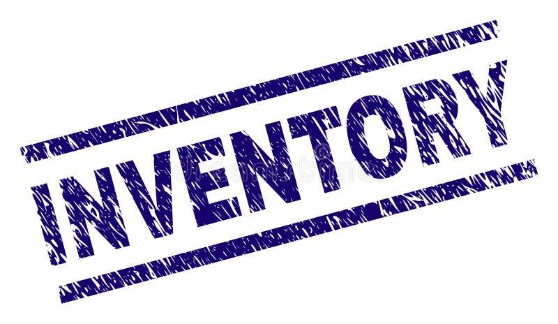 Schmutz strukturiertes INVENTAR Stempelsiegel lizenzfreie abbildung