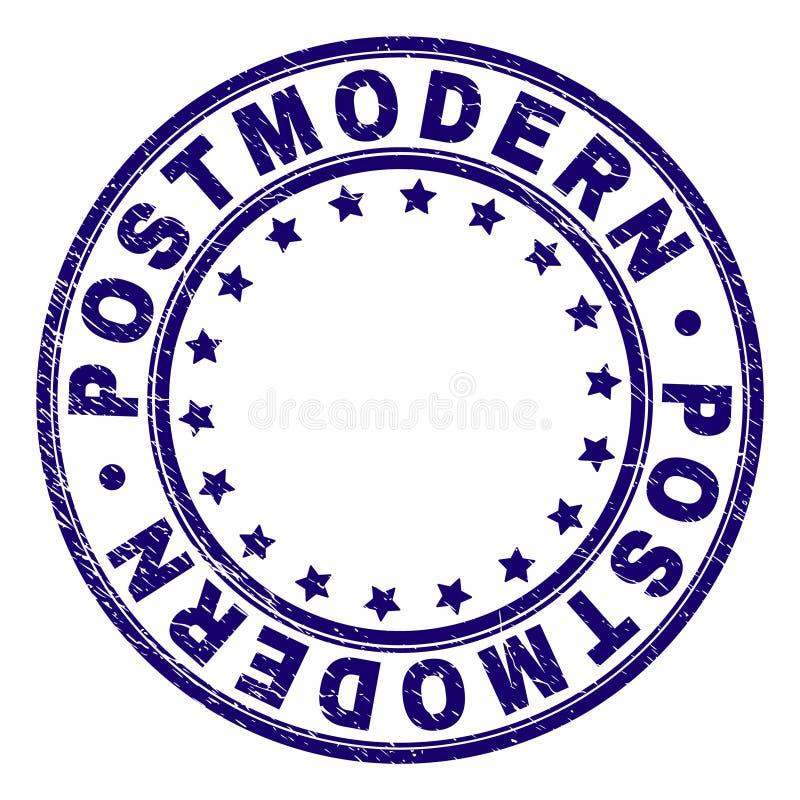 Schmutz-strukturiertes POSTMODERN rundes Stempelsiegel lizenzfreie abbildung
