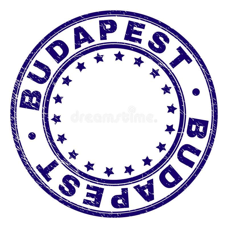 Schmutz Textur-BUDAPEST-Runden-Stempelsiegel stock abbildung