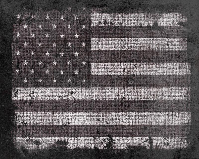 Schmutz US-Flagge stock abbildung