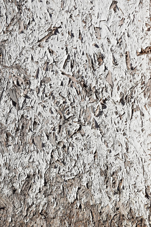 Schmutz-Weiß gemalte Spanplatte stockfoto