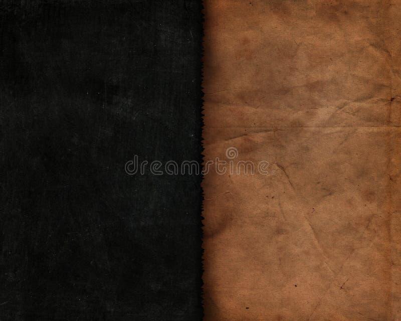 Schmutzart-Tafelbeschaffenheit mit altem Papier lizenzfreie abbildung