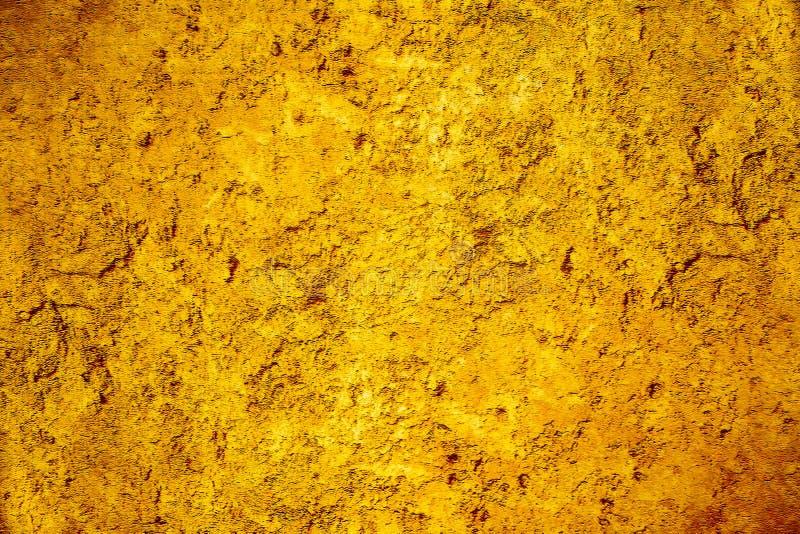 Schmutzbraun und Goldrustikaler und fester Beschaffenheitshintergrund lizenzfreie abbildung