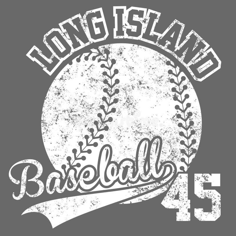 Schmutzeffektt-stück Druck-Vektordesign der Weinlese amerikanisches altes Retro- Logokonzept des erstklassigen Baseballs der Qual stockbilder