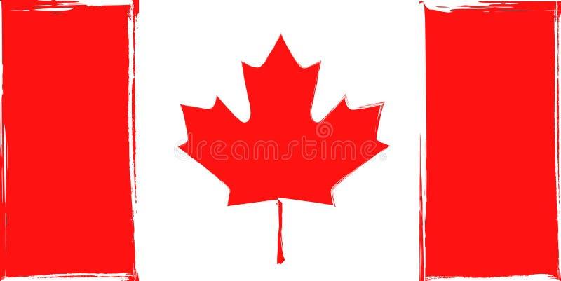 Schmutzflagge von Kanada vektor abbildung