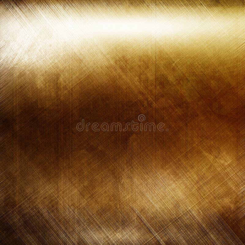 Schmutzgoldmetallhintergrund mit Sprüngen und Kratzern vektor abbildung