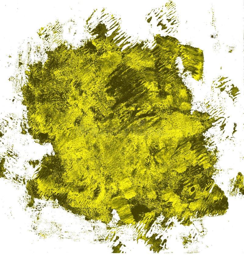 Schmutzhand gezeichnet mit einer Bürste Rundbürsteanschlag cerulean Farbe vektor abbildung